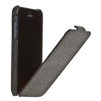 Кожаный чехол Borofone для iPhone 5s / SE / 5 - Borofone Crocodile flip Leather case black