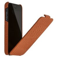 Кожаный чехол Borofone для iPhone 5s / SE / 5 - Borofone Crocodile flip Leather case orange
