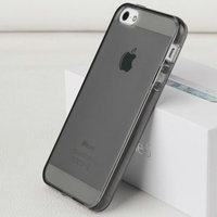 Черный прозрачный силиконовый чехол для iPhone 5s / SE / 5