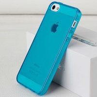 Голубой прозрачный силиконовый чехол для iPhone 5s / SE / 5