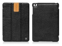 Кожаный чехол HOCO Litich real leather case Black для iPad mini - черный