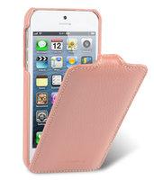 Кожаный чехол Melkco для iPhone 5s / SE / 5 - Jacka Type розовый