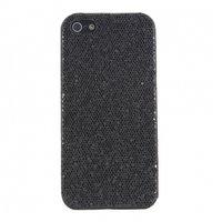 Накладка чехол с блестками Glitter Bling Case Black для iPhone 5 / 5s / SE черный