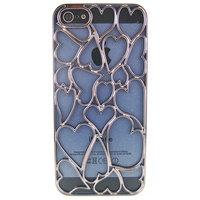 Накладка Chrome Dark Grey Heart Case для iPhone 5 / 5s / SE серое сердце