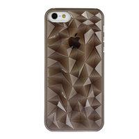 Накладка Clear Diamond 3D Case Black для iPhone 5 / 5s / SE черный прозрачный бриллиант