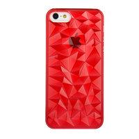 Накладка Clear Diamond 3D Case Red для iPhone 5 / 5s / SE красный прозрачный бриллиант