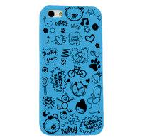 Накладка Happy Cartoon Pattern Case для iPhone 5 / 5s / SE - голубой