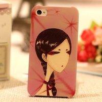 Накладка Japan Girl 3D Pattern Case для iPhone 5 / 5s / SE c объемным рисунком девочка с косой