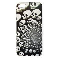Накладка Skull Spiral Pattern Case для iPhone 5 / 5s / SE - черный