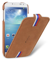 Замшевый чехол для Samsung Galaxy S4 - Melkco Jacka Type Premium Case (Classic Vintage Brown)