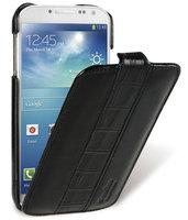 Кожаный чехол Melkco Jacka Type Vintage Black Crocodile для Samsung Galaxy S4 - черный крокодил