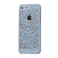 Пластиковая накладка Rose Flower Plastic Case Blue для iPhone 5 / 5s / SE светло-голубые розы