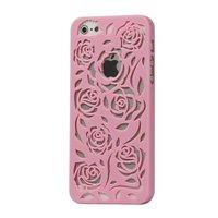 Пластиковая накладка Rose Flower Plastic Case Pink для iPhone 5 / 5s / SE светло-розовые розы