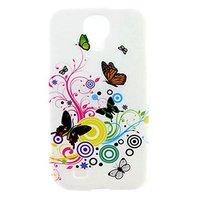Силиконовый чехол для Samsung Galaxy S4 mini бабочки и круги