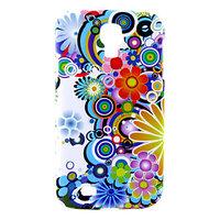 Пластиковый чехол для Samsung Galaxy S4 с узором цветы и круги