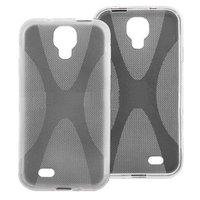 Силиконовый чехол для Samsung Galaxy S4 - X Style Case Grey серый