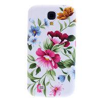 Чехол силиконовый для Samsung Galaxy S4 mini розовые цветы