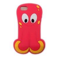 Силиконовый чехол Octopus 3D Silicone Case Pink для iPhone 5 / 5s / SE розовый осьминог