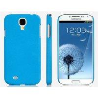 Голубой матовый пластиковый чехол для Samsung Galaxy S4 mini I9190