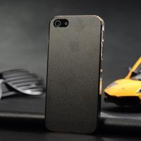 Ультратонкая накладка Ultra Thin Matte Crystal Case 0.5mm для iPhone 5 / 5s / SE черная