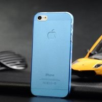 Ультратонкая накладка Ultra Thin Matte Crystal Case 0.5mm для iPhone 5 / 5s / SE голубая
