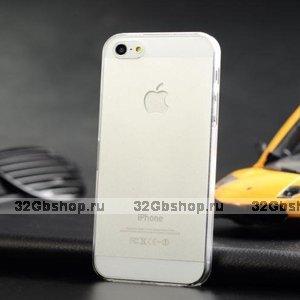 Ультратонкая накладка Ultra Thin Matte Crystal Case 0.5mm для iPhone 5 / 5s / SE прозрачная