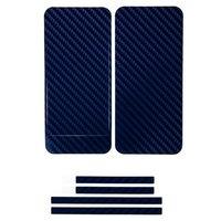 Наклейка карбон для iPhone 5 синяя на переднюю,заднюю и боковые части