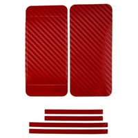 Наклейка карбон для iPhone 5 красная на переднюю,заднюю и боковые части
