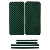 Наклейка карбон для iPhone 5 зеленая на переднюю, заднюю и боковые части