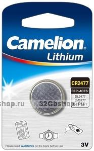 Элемент питания Camelion CR 2477 (DL2477 / LM2477 / E-CR2477 батарейка литиевая 3V)