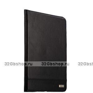 Черный кожаный чехол для iPad 10.2 2019 - XOOMZ Genuine Leather Case Magnetic Closure and Stand Black