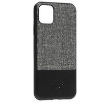 Черный кожаный чехол накладка с тканевой вставкой для iPhone 11 Pro Max - Santa Barbara Polo&Racquet Club Virtuoso Series Black