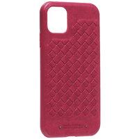 Красная кожаная накладка Santa Barbara Polo&Racquet Club Ravel Series для iPhone 11
