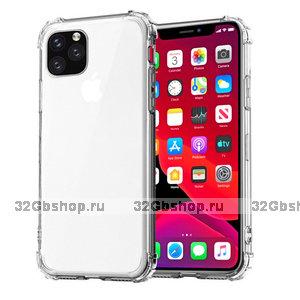 Прозрачный силиконовый чехол с усиленными углами для iPhone 11 Pro Max