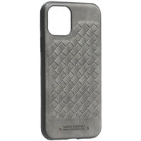 Серая кожаная накладка для iPhone 11 Pro - Santa Barbara Polo&Racquet Club Ravel Series Grey