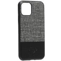 Черная кожаная накладка с тканью для iPhone 11 Pro - Santa Barbara Polo&Racquet Club Virtuoso Series Black