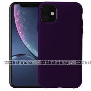 Фиолетовый силиконовый чехол-накладка TOTU Brilliant Series Silicone Case Purple для iPhone 11