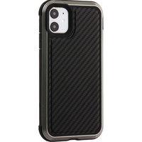 Противоударный пластиковый чехол для iPhone 11 карбон - X-DORIA Defense Lux Carbon Black