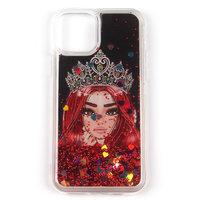 Силиконовый чехол с жидкими блестками для iPhone 11 - Princess