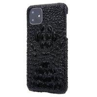 Черный чехол из крокодиловой кожи для iPhone 11 хребет