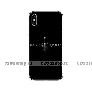 """Черный силиконовый чехол для iPhone XS Max 6.5"""" с рисунком Игра престолов"""