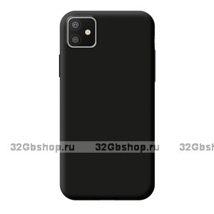 Черный силиконовый чехол для для iPhone 11 - Deppa Gel Color Case Basic Black 0.8mm