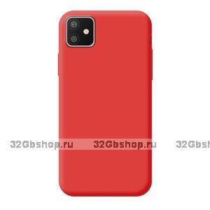Красный силиконовый чехол для для iPhone 11 - Deppa Gel Color Case Basic 0.8mm