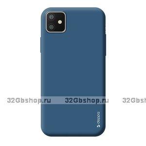 Синий силиконовый чехол для для iPhone 11 - Deppa Gel Color Case Blue 1.0mm