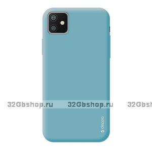 Мятный силиконовый чехол для для iPhone 11 - Deppa Gel Color Case Mint 1.0mm