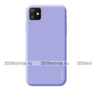 Лавандовый силиконовый чехол для для iPhone 11 - Deppa Gel Color Case Lavander 1.0mm