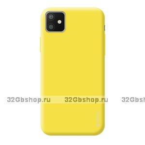 Желтый силиконовый чехол для для iPhone 11 - Deppa Gel Color Case Yellow 1.0mm