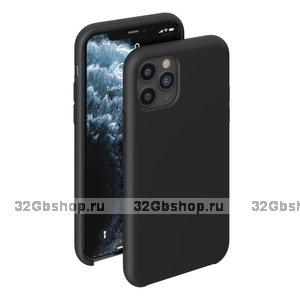 Черный силиконовый чехол для для iPhone 11 - Deppa Liquid Silicone Case Black 1.5mm