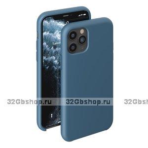 Синий силиконовый чехол для для iPhone 11 - Deppa Liquid Silicone Case Blue 1.5mm