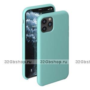 Мятный силиконовый чехол для для iPhone 11 - Deppa Liquid Silicone Case Mint1.5mm